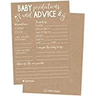 50 Rustic Advice and Prediction Cards for Baby Shower...