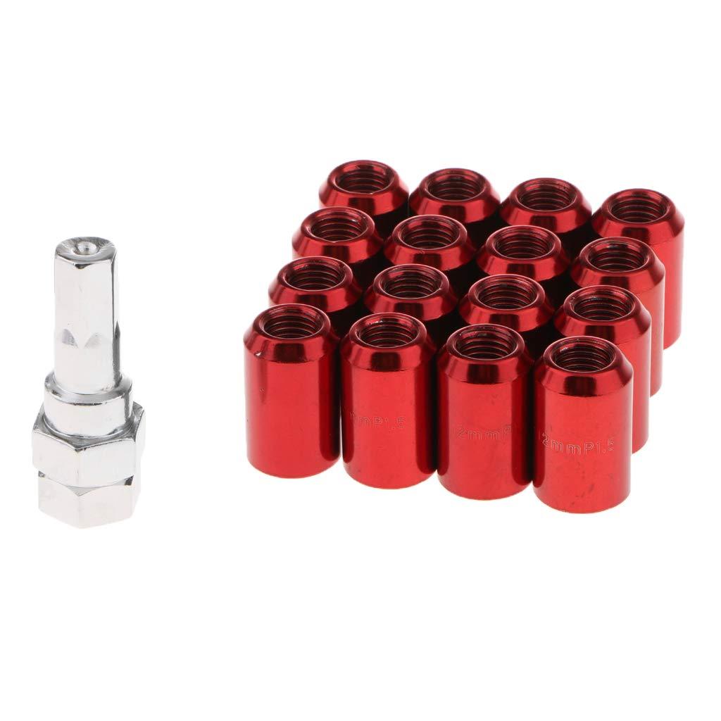 Rouge B Blesiya Chapeau de Roue /Écrou Boulon Capuchon 32mm 12x1.5