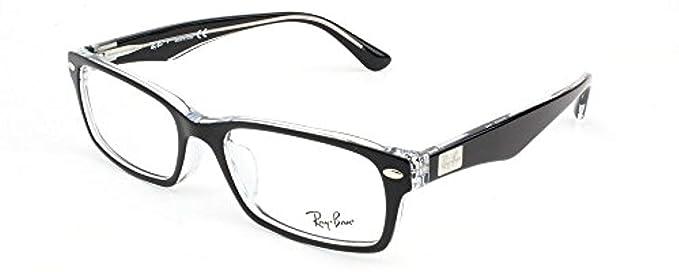 ad49ae968bd00 Amazon.com  Ray-Ban Men s RX5206F Eyeglasses Dark Havana 54mm  Clothing
