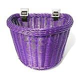 Colorbasket 02195 Junior Front Handlebar Bike Basket, Purple