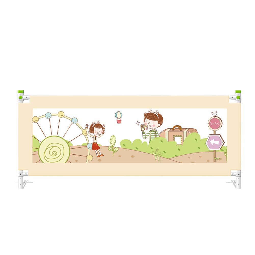 ベッドフェンス ベッドレール、幼児の女の子の男の子のためのストレージポケットと7スピードの高さ調節可能なベッドレール付き (サイズ さいず : Length 220cm) Length 220cm  B07KG7B27J