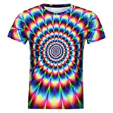 OWMEOT Unisex 3D Digital Printed Personalized Short Sleeve T Shirts Tees (Multicolor, L)