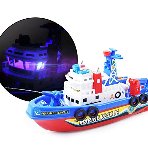 Diecasts & Toy Vehicles - Fast Speed Music Light Electric Marine Rescue Fire Fighting Boat Toy for Kids-m15 - by TINIX - 1 PCs from TINIX