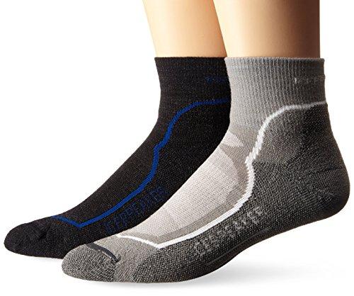Icebreaker Men's Hike+ Light Mini Socks (2 Pair), Various, (Icebreaker Mini Socks)