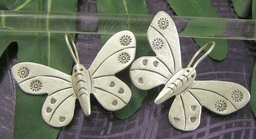 INFINITY KAREN HILL TRIBE 97% SILVER Handmade Butterfly Flower Lovely EARRINGS E487 (Goddess Costume Diy)