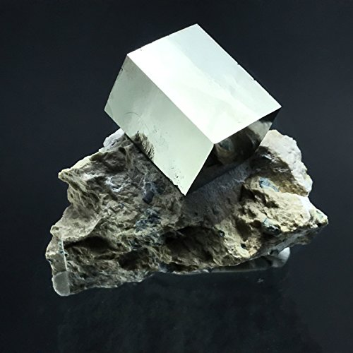 Pyrite Cube on Basalt From Navajun, Spain - PB14 by Astro Gallery Of Gems