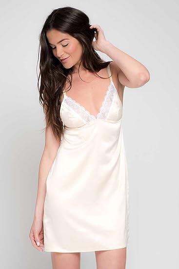 2e08a88c61dae Body One Nuisette Satin et Dentelle Ingrid: Amazon.fr: Vêtements et  accessoires