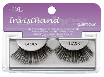 12d08e3a681 Amazon.com : Ardell Invisiband Lashes, Lacies Black, 1 Pair (Pack of 3) :  Fake Eyelashes And Adhesives : Beauty