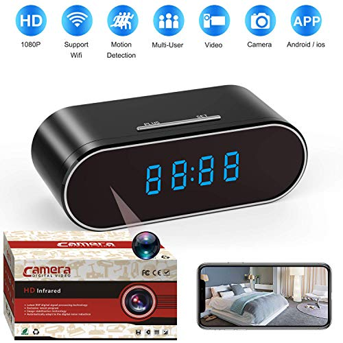 Spy Camera, 1080P Hidden Camera Clock WiFi Video Recorder 140