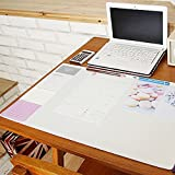 "Lovely Nonslip Desk Mat Clear PVC Cover Mouse Pad Writing Pad Decorative Desk Protector Desk Organizer , 21.65"" X 12.79"" (Ivory)"