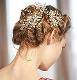 meoly Headpiece boda diadema nupcial dama Tocado Accesorios de pelo, paquete de 4unidades