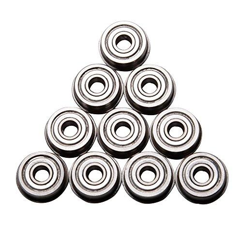 10Pcs/lot F623ZZ Flange Bushing Ball Bearings 3x10x4 mm Mini Metal Double Shielded Flanged Ball Bearings