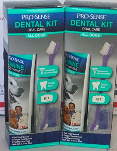 2 NIP Pro Sense Dental Kit Oral Care Dog Toothbrush and Toothpaste 3.0 Oz Each by United States