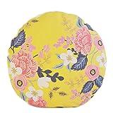 Country Style Flower Pattern Sofa Round Cushion Circular Chair Cushion Pillow Seat Pad, H
