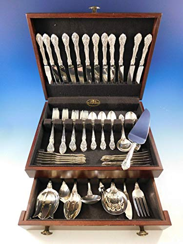 King Gorham Edward Sterling (King Edward by Gorham Sterling Silver Flatware Set for 12 Service 86 Pieces)
