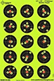 Splatterburst Targets - 12 x 18 inch - 3 inch Bullseye Shooting Target - Shots Burst Bright Fluorescent Yellow Upon Impact - Gun - Rifle - Pistol - Airsoft - BB Gun - Pellet Gun - Air Rifle (50 Pack)