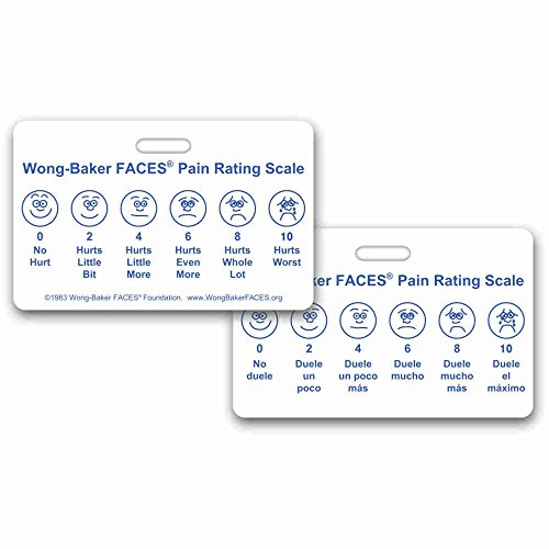 - Wong-Baker FACES® Pain Rating Scale Horizontal w/ Spanish on Back Badge ID Card Pocket Reference Guide (1 Card)