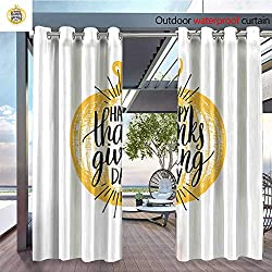Outdoor Privacy Curtain for Pergola Vector-illustration-of-pumpkin-with-Happy-Thanksgiving-Day-hand-lettering--Invitation-or-festive-greeting-card-template-.jpg Thermal Insulated Water Repellent Dra