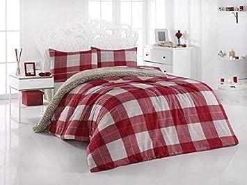 My Palace Fein Biber Bettwäsche 200x220cm Fein Biber Bettwäsche 200x220cm Biber Bettwaeschefeinbiber BettwaescheBiber Bettwaesche rot weinrot