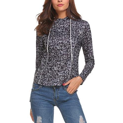 Damen Sweatshirt mit Allover Print
