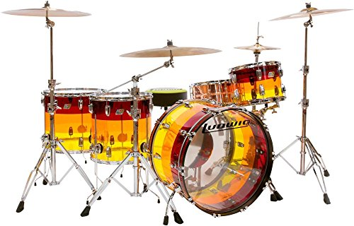 Ludwig Vistalite 4 Piece Shell Pack - Tequila Sunrise