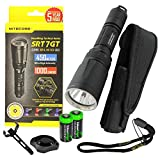 Nitecore SRT7GT 1000 Lumens CREE LED Built in Red, Green, Blue, UV Lights, Variable brightness Flashlight/searchlight with 2 X EdisonBright CR123A Batteries For Sale