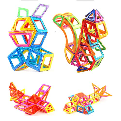 KUHU Assembling Toys Magnetic Piece Building Blocks Children's Toys Assembling Patch Magnet Puzzle Diamond 3-10 Years Old Toys 96 Tablets by KUHU (Image #2)