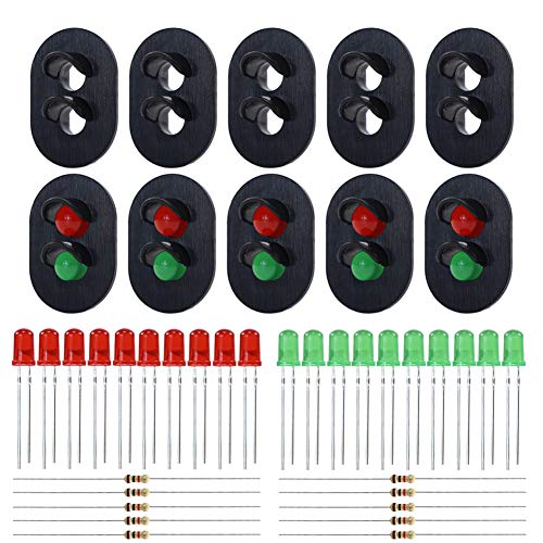 Evemodel JTD23 10 Sets Target Faces with LEDs for Railway Signal O Scale 2 Aspects