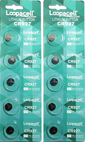 Loopacell CR927 Lithium 3V Battery 5 on a Card Pack of 10 Card Cmos Battery