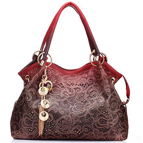 Body Borse Bag Spalla Delle Del Tote Style Celebrity Modo Qualit¨¤ Cross Progettista Donne Di Rosso Cuoio PqvnwUPr