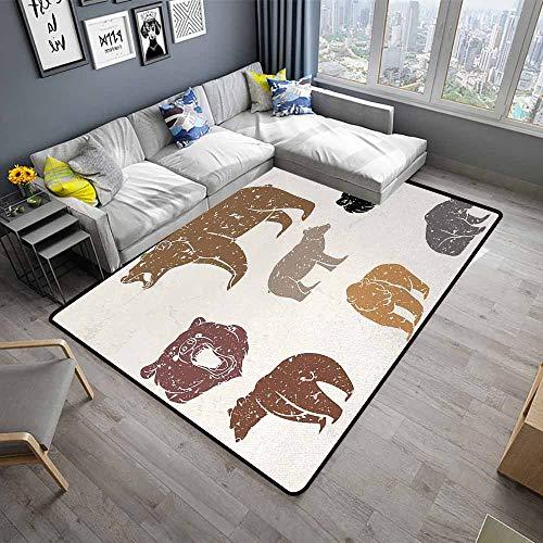 Bear,Office Chair Floor Mat Foot Pad 48