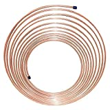 """25 ft 3/16"""" Copper Nickel Tubing Coil - Replacement Line is Flexible, Easy to Bend (.028) Wall Thickness - (11,909 PSI) B.P."""