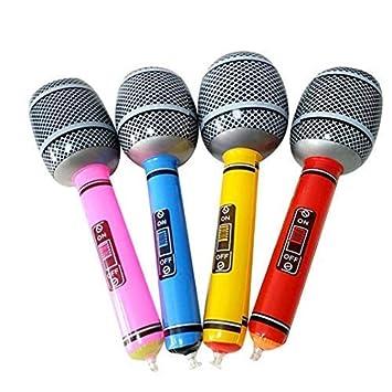 ngshanquzhuyu Práctico Inflable Micrófono Neón Color ...