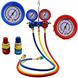 Autool HVAC R134A A/C Refrigeration Kit Manifold Gauge Set Air Conditioner Service Tool