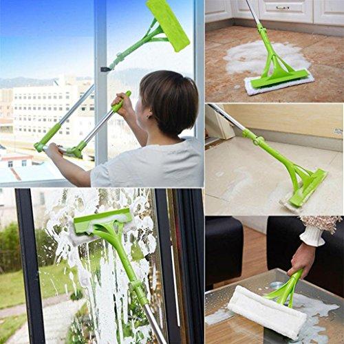 Window Cleaner Tools,Hongxin Telescopic Foldable Handle Cleaning Glass Sponge Mop Cleaner Window Household Floor Cleaning Tools Water Absorption Mop Window Cleaner Extendable by Hongxin