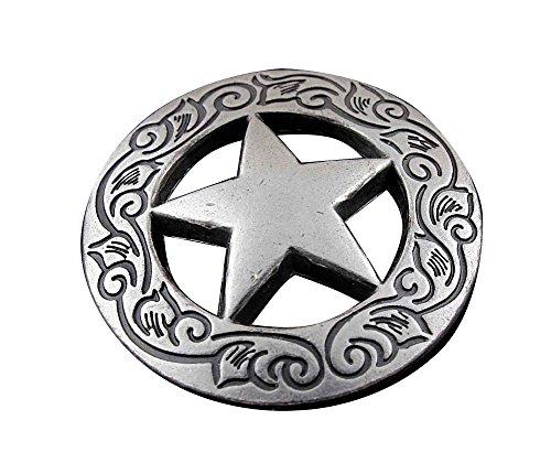 Screw Eye - Steel Western Biker Vintage Texas Star Metal Coin Concho Button Screw - Biker Concho