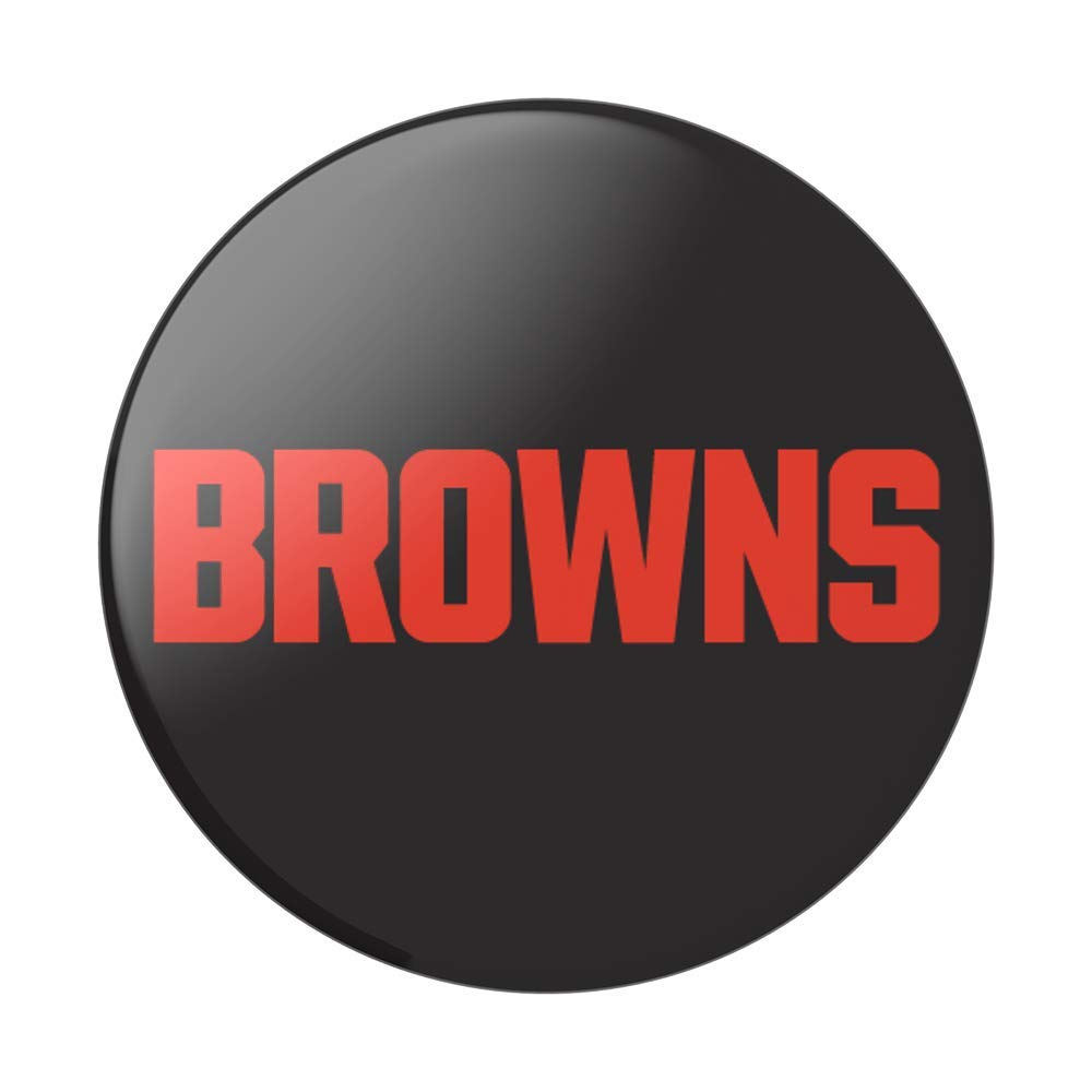 NFL PopSockets Cleveland Browns Logo PopGrip with Swappable Top for Phones /& Tablets