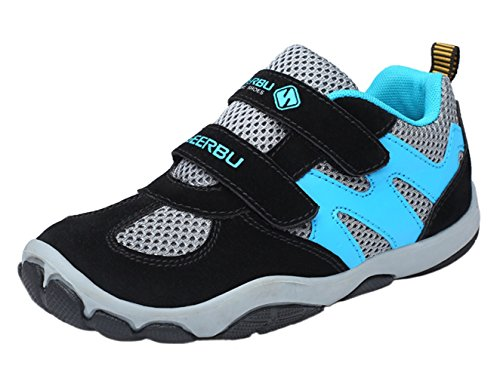 WUIWUIYU Boy's Casual Sport Sneakers Outdoor Running Shoes Black L3buXrv