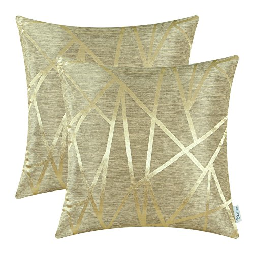 CaliTime Pack of 2 Throw Pillow Covers Cases for Couch Sofa...