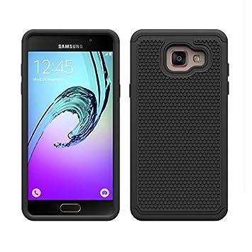 32nd® Funda Rígida Anti-Choques de Alta Proteccion para Samsung Galaxy A5 (2016) Carcasa Defensora de Doble Capa - Negro