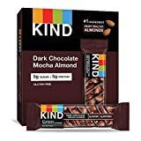 KIND Bars, Dark Chocolate Mocha Almond, Gluten Free, Low Sugar, 1.4oz, 12 Count