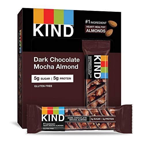 KIND Bars, Dark Chocolate Mocha Almond, Gluten Free, Low Sugar, 1.4 Ounce,...