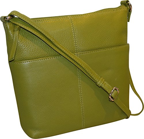 Women's Ii Bag Fashion Bucket Green Crossbody Leather Genuine 4qww0Od