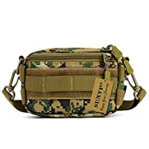 Protector Plus Tactical Utility Molle Phone Pouch Casual Messenger Bag with Waist Belt(Army Green)