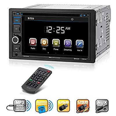 BOSS Audi Car Video, Double Din, Touchscreen, Bluetooth, DVD/CD/MP3/USB/SD AM/FM