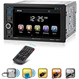 BOSS Audio BV9364B Car Stereo DVD Player – Double Din, Bluetooth Audio and Hands Free Calling, 6.2 Inch Touchscreen LCD Monitor, MP3 Player, CD, DVD, USB Port, SD, AUX Input, AM/FM Radio Receiver