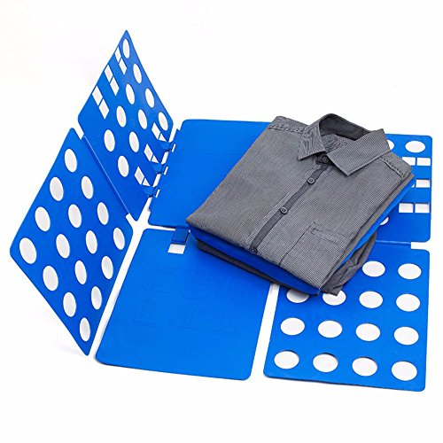Blue T-Shirt Clothes Folder Large Magic Fast Laundry Organizer Folding Board Adult from Unknown
