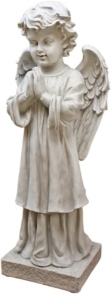 Design Toscano The Angel's Message Garden Statue, Antique Stone