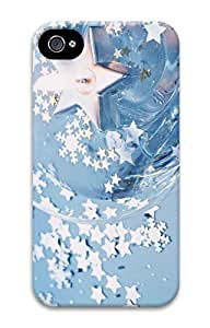 iPhone 4S Case Blue Stars Pattern Hard Back Skin Case Cover For Apple iPhone 4 4G 4S Cases