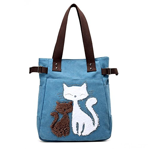 Aoligei Chat de foret de velours sac sac à main sac épaule seule sacoche sac momie sac en toile D